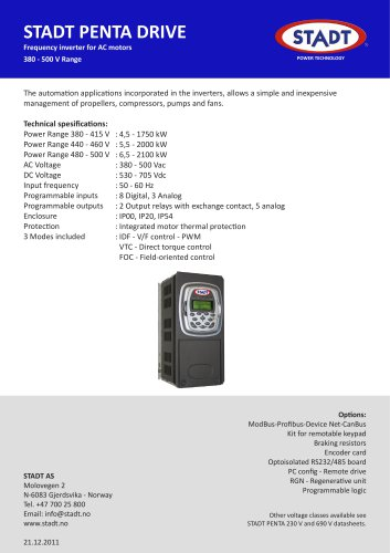 STADT Penta 400 V