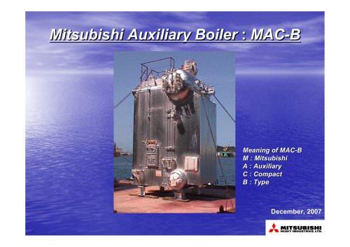 Auxiliary Boiler MAC-B
