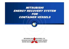 Energy Recovery System for Container Vessels