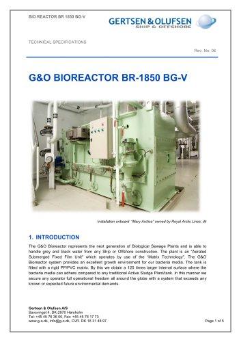 G&O BIOREACTOR BR-1850 BG-V