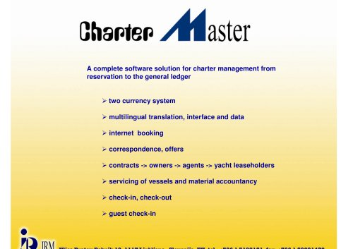CHARTER MASTER - short overview