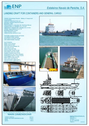 57m LANDING CRAFT FOR CONTAINERS AND CARGO