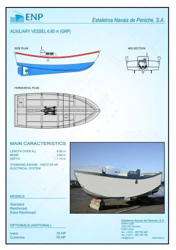 Auxiliary Vessel Technical Data