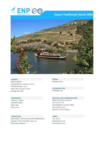 Douro Traditional Vessel 30M