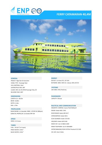 Ferry catamaran 40,4M