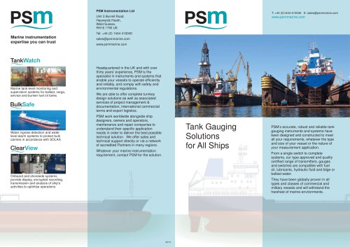Tank Gauging  Solutions  for All Ships