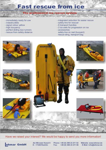 Ice Rescue Safety Sled
