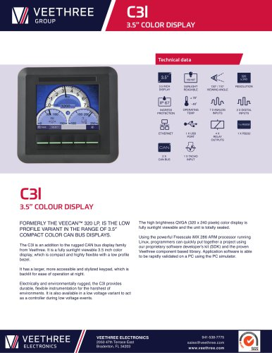 "C3l - 3.5"" Color Display, Low Profile"