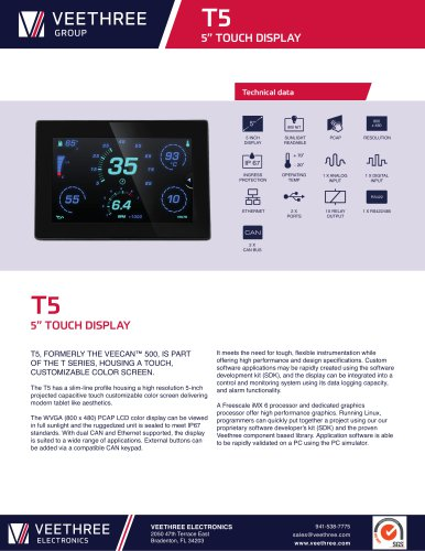 "T5 - 5"" Touch LCD Display"