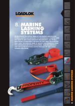 Marine lashing systems