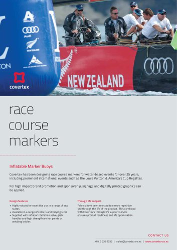 Race Course Markers