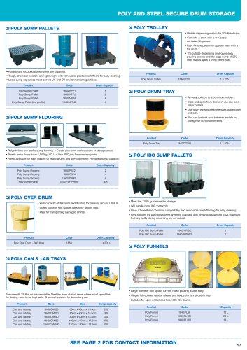 Poly sump pallets and flooring