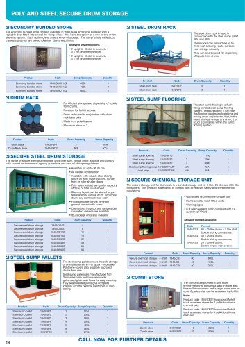 Steel pallets and storage units