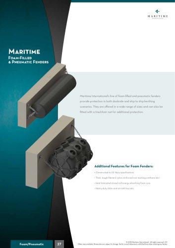 Foam-Filled  & Pneumatic Fenders
