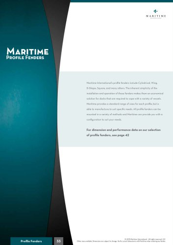 Maritime Profile fenders