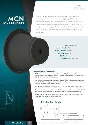 MCN cone fender