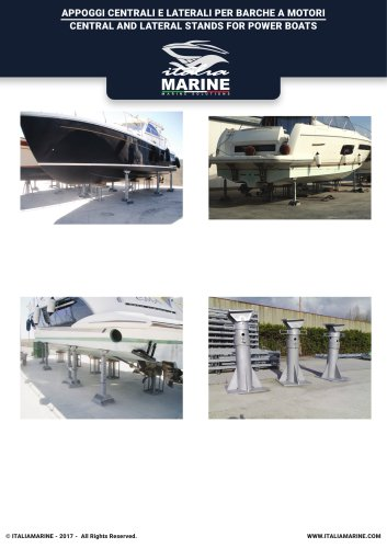 CENTRAL AND LATERAL STANDS FOR POWER BOATS