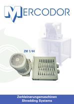Mercodor two shaft shredder ZM 1/44