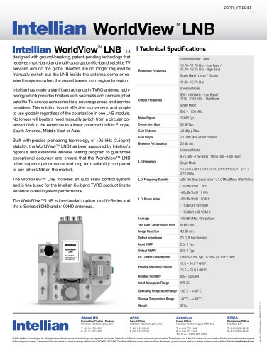 INTELLIAN  ALL-AMERICAS LNB