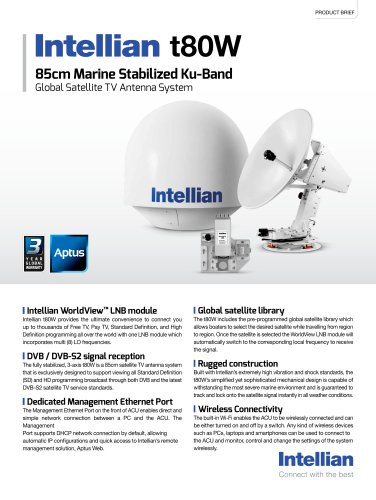 Intellian t80W