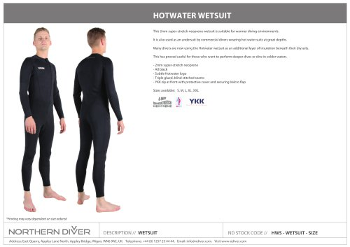 HOTWATER WETSUIT