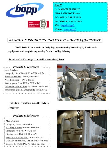 trawlers - deck equipment