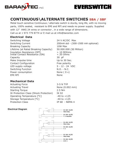 CONTINUOUS\ALTERNATE SWITCHES SBA / SBF