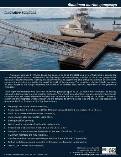Aluminum marine gangways