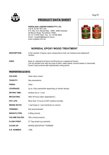 Noseal wood treatment