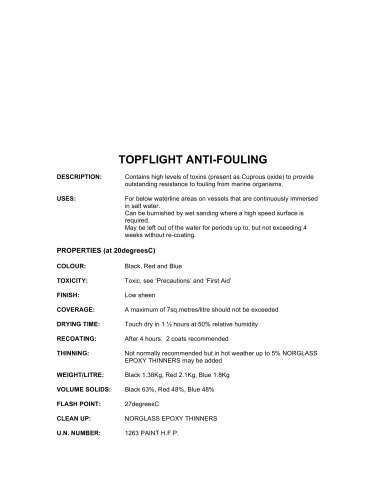 topflight anti-fouling