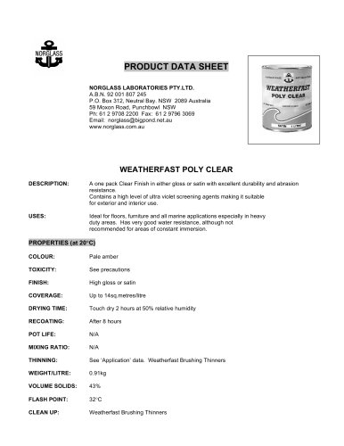 weatherfast polyclear