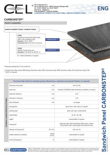 Sandwich panel Carbonstep