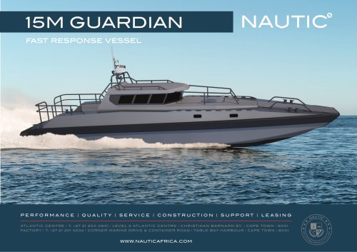 15m Guardian Fast Response Vessel