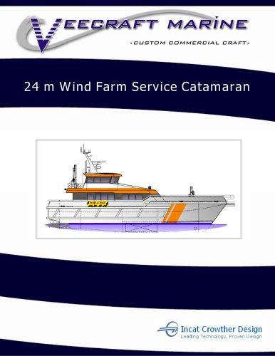 24 m Wind Farm Service Catamaran