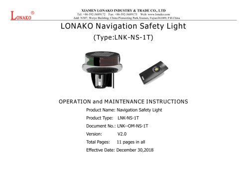LNK-NS-1T LED NAVIGATION SAFETY LIGHT