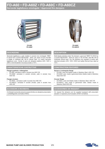 Approved fire dampers