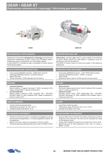 SELF-PRIMING GEAR ELECTRIC PUMPS