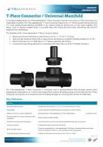 """T-Piece Connector 1½"""" BSP M-F-F"""