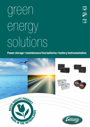 Brochure WhisperPower Batteries