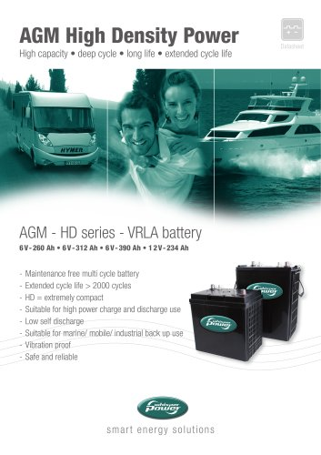 WP AGM HD batteries / Flatline