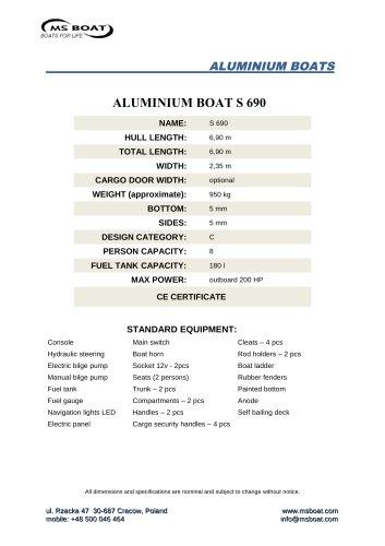 ALUMINIUM BOAT S 690