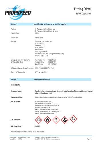 Primer Material Safety datasheet