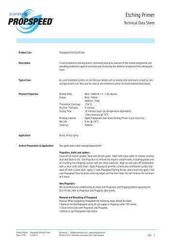 Primer Technical datasheet