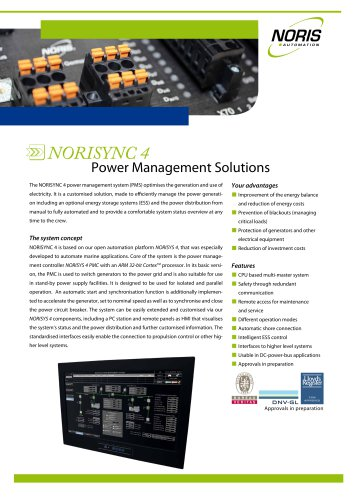 Flyer NORISYNC 4 Power Management System
