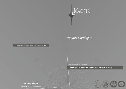 MAGISTR Product Catalogue