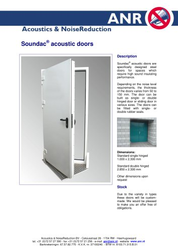 Soundac acoustic doors