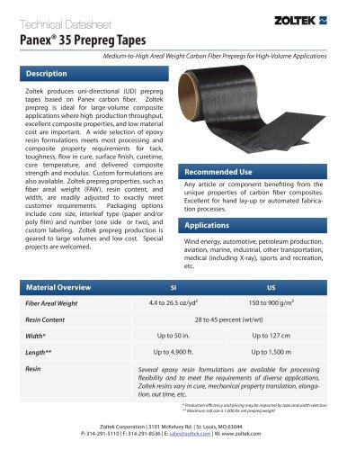 Panex® 35 Prepreg Tapes