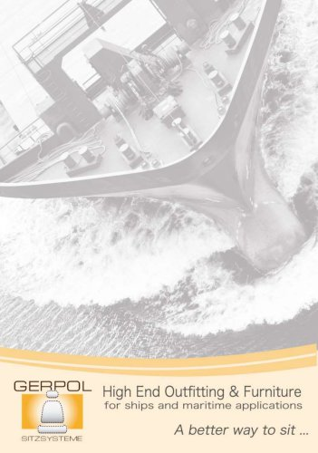 GERPOL Seating solutions catalogue