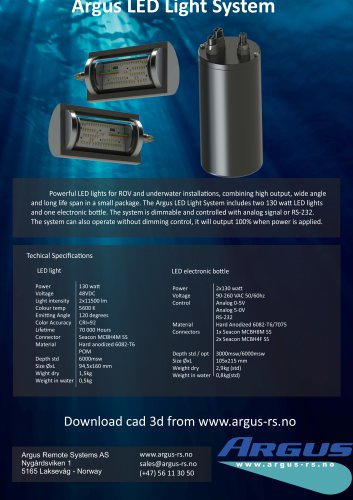 Argus LED Light System