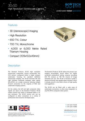 3D-SD High Resolution Underwater Standard Definition Stereoscopic Video